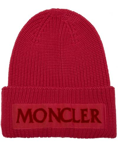 Шапка с отворотом шерстяная Moncler