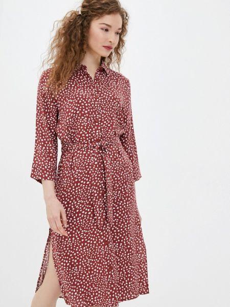 Платье платье-рубашка красный Only