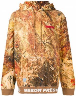 Bluza z kapturem z kapturem kamuflaż Heron Preston