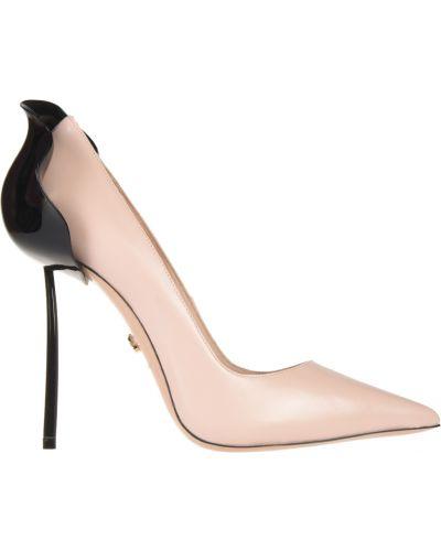 Туфли на каблуке кожаные розовый Le Silla