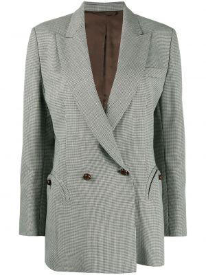 Сатиновый черный пиджак с карманами двубортный Blazé Milano