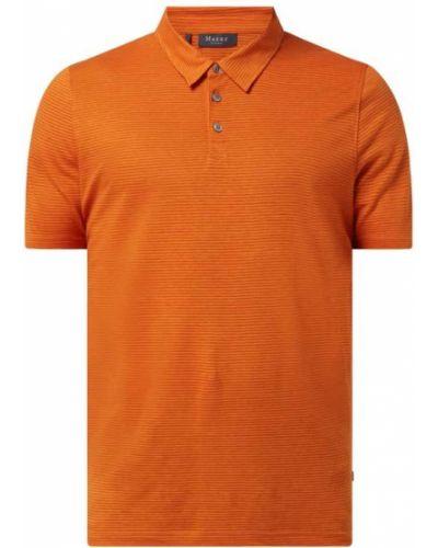 Pomarańczowy t-shirt w paski bawełniany Maerz Muenchen