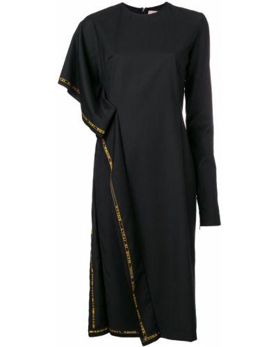 Платье миди средней длины - черное Damir Doma