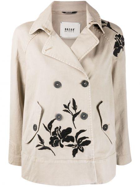 Классическая куртка с вышивкой с рукавом реглан с воротником Bazar Deluxe
