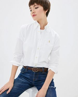 Рубашка с длинным рукавом белая индийский Polo Ralph Lauren
