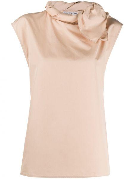 Bluzka z krótkim rękawem długa koronkowa Givenchy