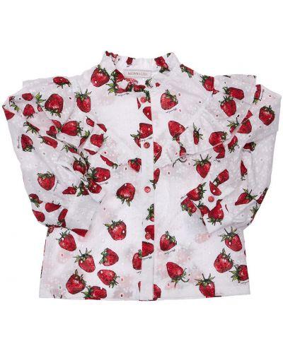 Biała koszula bawełniana koronkowa Monnalisa