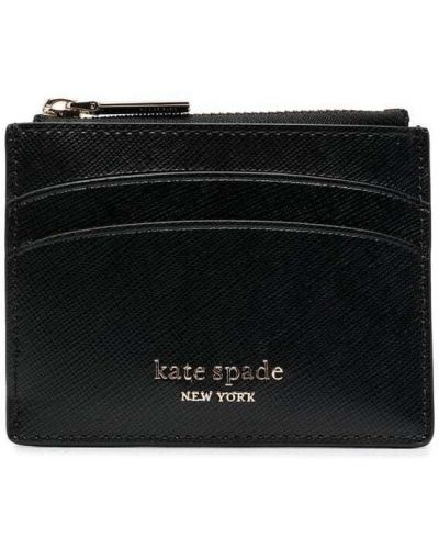 Кожаный кошелек золотой со шлицей Kate Spade