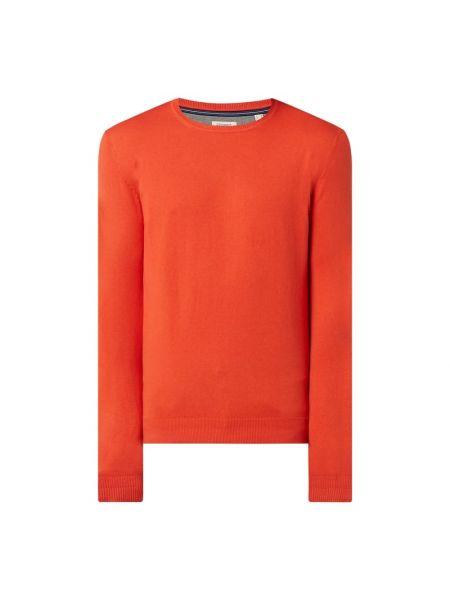 Prążkowany pomarańczowy sweter bawełniany Esprit