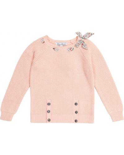 Ватный хлопковый розовый свитер Tartine Et Chocolat