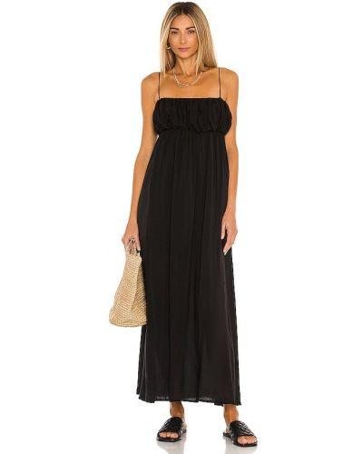 Черное платье миди для полных с подкладкой L'academie