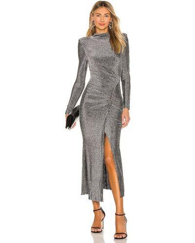 Деловое серебряное платье с люрексом Misha Collection