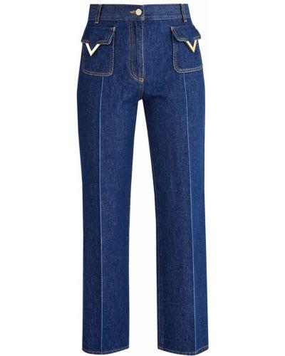 Прямые джинсы укороченные с вышивкой Valentino