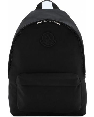Czarny plecak na laptopa skórzany Moncler