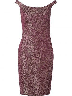 Красное платье на одно плечо с разрезом на молнии Martha Medeiros