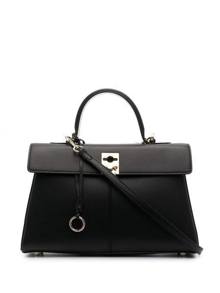 Czarny portfel skórzany Cafuné