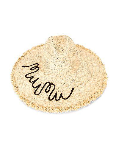 Kapelusz bawełniany z haftem Miu Miu