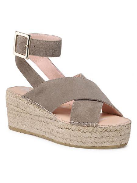 Szare sandały vintage Manebi