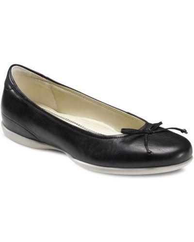 Балетки черные кожаные Ecco