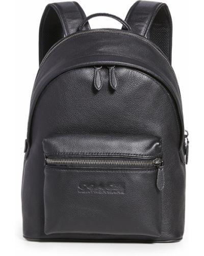 С ремешком черный рюкзак из натуральной кожи Coach New York