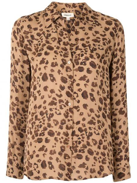 Классическая рубашка с манжетами с воротником на пуговицах с длинными рукавами L'agence