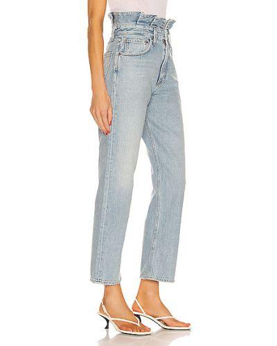 Niebieskie jeansy vintage bawełniane Agolde