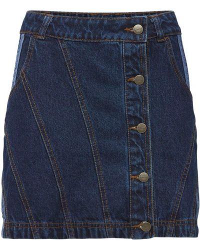 Синяя джинсовая юбка Adidas X Ivy Park