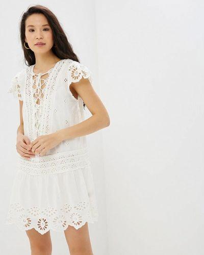 Блузка с коротким рукавом белая весенний Free People
