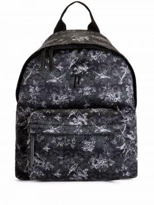 Plecak w kwiaty - czarny Giuseppe Zanotti