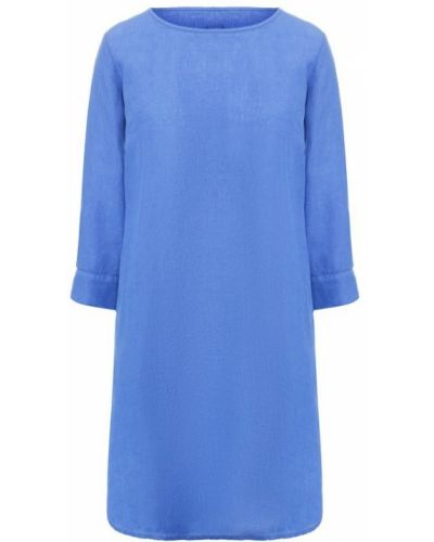 Платье мини короткое - синее 120% Lino