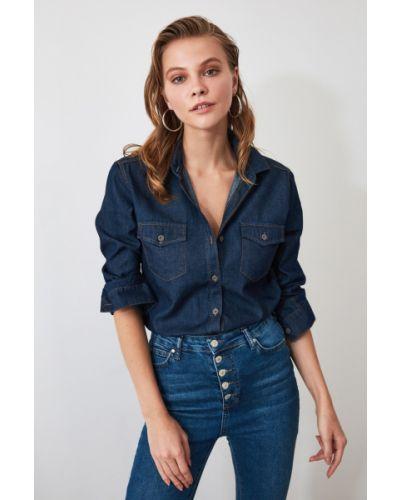 Koszula jeansowa - niebieska Trendyol