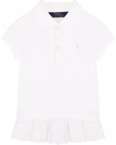 Белое поло классическое Polo Ralph Lauren