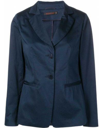 Прямой синий удлиненный пиджак на пуговицах Incentive! Cashmere