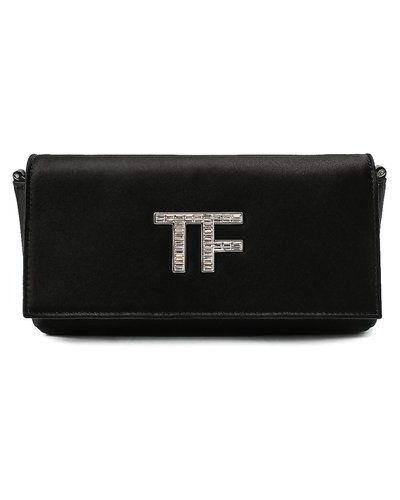 Текстильный вечерний клатч Tom Ford