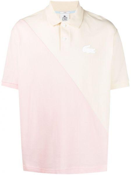 Różowa koszula krótki rękaw bawełniana Lacoste Live