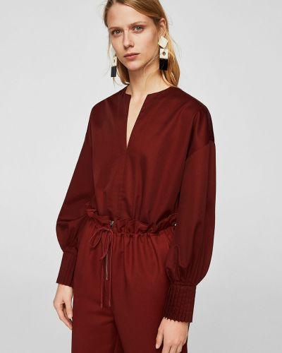Блузка с V-образным вырезом Mango