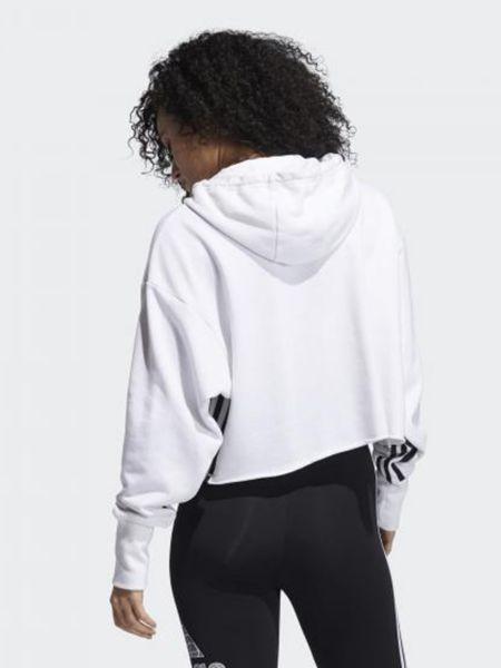 Худи с капюшоном - белое Adidas