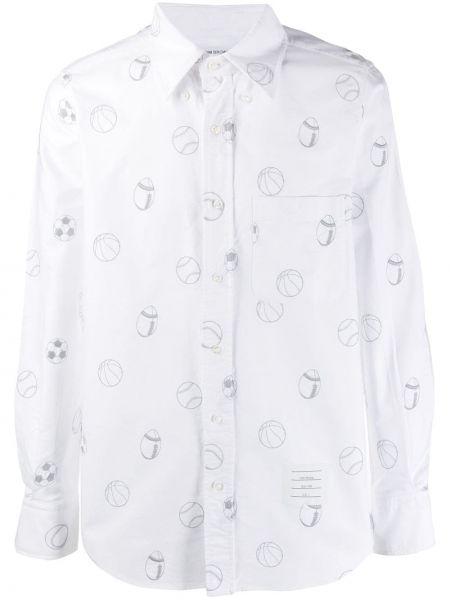 Koszula z długim rękawem klasyczna puchaty Thom Browne