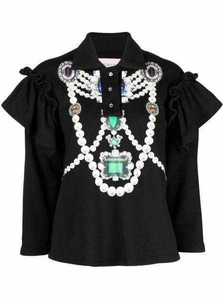 Czarna bluzka bawełniana Viktor & Rolf