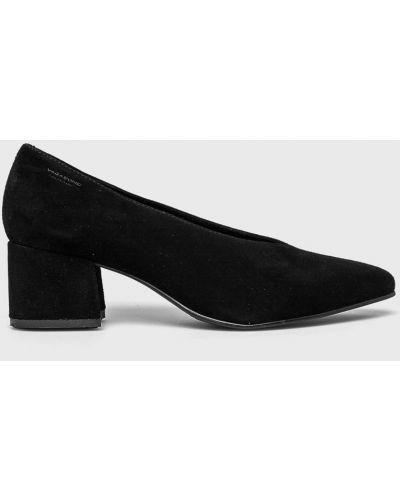 Туфли на каблуке кожаные черные Vagabond