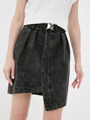 Черная джинсовая юбка Fadjo