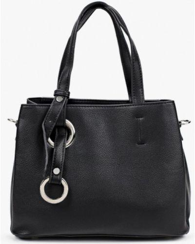 Черная кожаная сумка через плечо Izabella