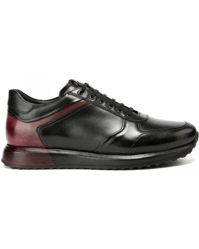 Комбинированные кожаные кроссовки на шнуровке Franceschetti