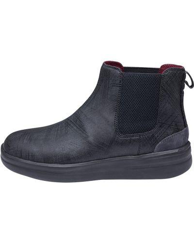 Кожаные ботинки - черные Hey Dude