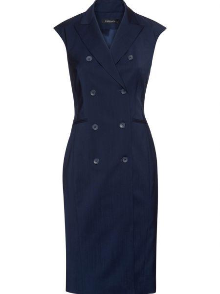 Деловое платье в полоску с отложным воротником Vassa&co