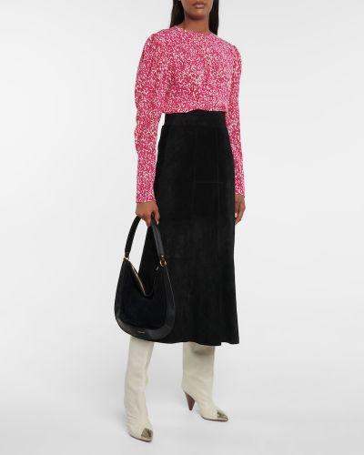 Różowa bluzka z jedwabiu Isabel Marant