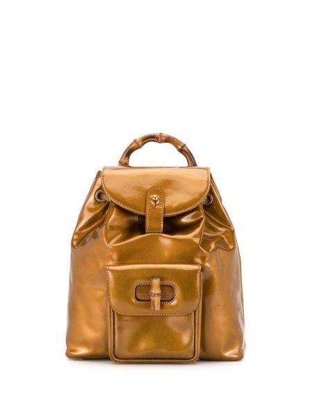 Желтый рюкзак на бретелях с карманами на молнии Gucci Pre-owned