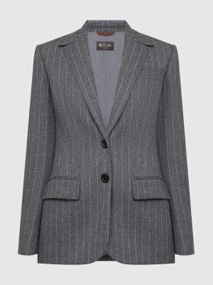 Кашемировый серый пиджак Loro Piana