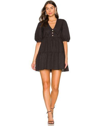 Шелковое платье - черное Amanda Uprichard