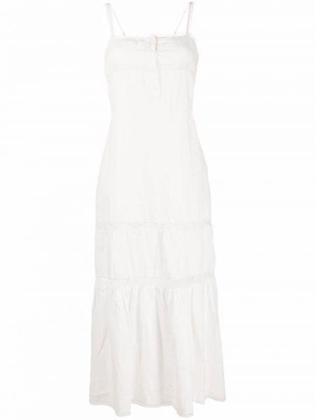 Расклешенное белое платье макси с вырезом Gold Hawk